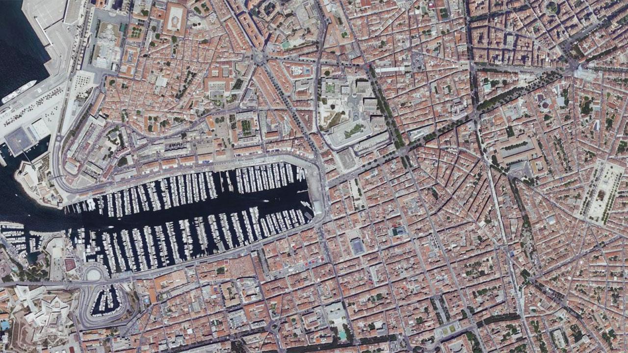 photo Marseille vue aérienne