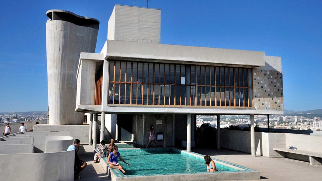 Cité Radieuse de le Corbusier Architecture Marseille