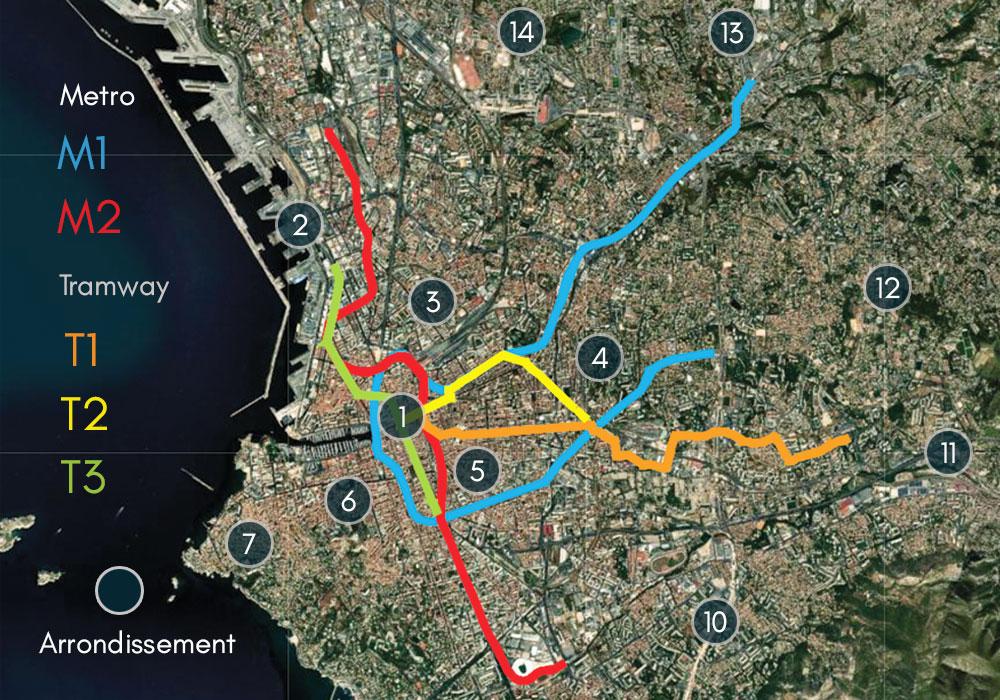 plan Marseille metro tramway