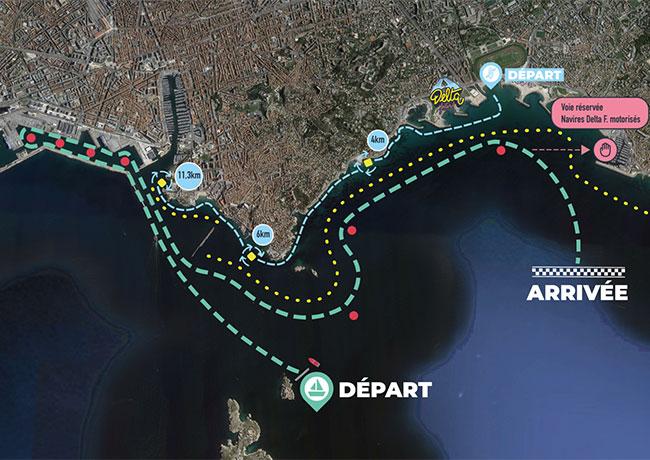 Plan navigation grande parade maritime