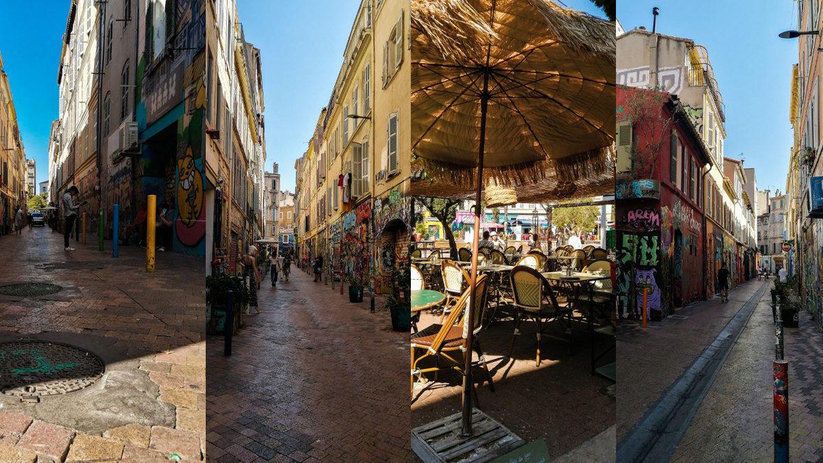 Quartier du cours julien à Marseille